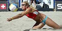 Volleyball, Sandvolleyball, World Tour Stavanger, Grand Slam, 30/06-05, <br />Kathrine Maaseide, <br />Foto: Halvard Hofsmo, Digitalsport