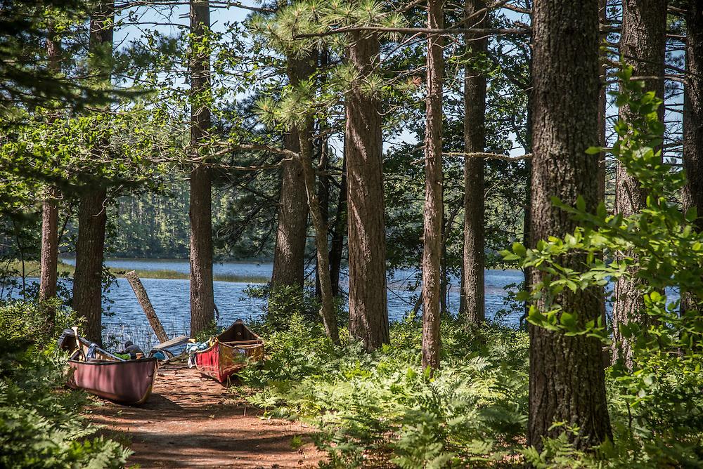 The Pretty Lakes Quiet Area near Newberry, Michigan on Michigan's Upper Peninsula.