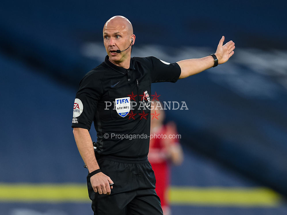 LEEDS, ENGLAND - Monday, April 19, 2021: Referee Anthony Taylor during the FA Premier League match between Leeds United FC and Liverpool FC at Elland Road. (Pic by Propaganda)