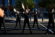 Shadow Drum and Bugle Corps performs in Indianapolis, Indiana on August 9, 2018. <br /> <br /> Beth Skogen Photography - www.bethskogen.com
