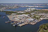 Aerial Photo of Navy Shipyard in Baltimore Maryland