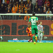Bursaspor's scores during their Turkish Super League soccer match Galatasaray between Bursaspor at the AliSamiYen Spor Kompleksi TT Arena at Seyrantepe in Istanbul Turkey on Sunday, 01 February 2015. Photo by Batuhan AKICI/TURKPIX