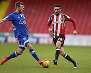 Danny Lafferty of Sheffield Utd during the English League One match at Bramall Lane Stadium, Sheffield. Picture date: December 26th, 2016. Pic Simon Bellis/Sportimage