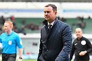 Plymouth Argyle manager Derek Adams during the EFL Sky Bet League 1 match between Plymouth Argyle and AFC Wimbledon at Home Park, Plymouth, England on 6 October 2018.