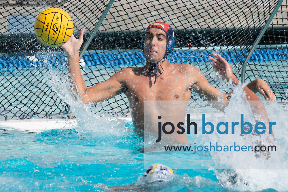 Santa Monica's Aaron Akhavan during the CIF-SS Division 4 boys water polo Final at William Woollett Jr. Aquatic Center on Saturday, November 10, 2018 in Irvine, Calif. (Photo by Josh Barber, Contributing Photographer)