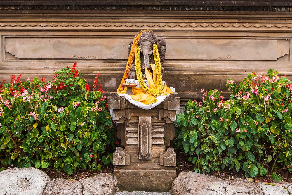 Offering at Ulun Danu Beratan Temple, Bali, Indonesia