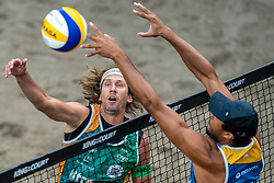 Aleksandrs Samoilovs LAT during the first day of the beach volleyball event King of the Court at Jaarbeursplein on September 9, 2020 in Utrecht.