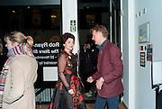 LULU GUINNESS; VALENTINE GUINNESS, Lulu Guinness And Rob Ryan Fan Bag - Launch Party. Air Gallery. London. 10 November 2010.  -DO NOT ARCHIVE-© Copyright Photograph by Dafydd Jones. 248 Clapham Rd. London SW9 0PZ. Tel 0207 820 0771. www.dafjones.com.