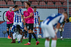 "Simon Gustafson #10 of Utrecht scores 2-0. FC Utrecht convincingly won the practice match against sc Heerenveen. The ""Domstedelingen"" were too strong for SC Heerenveen in Stadium Galgenwaard with 4-1<br /> on August 20, 2020 in Utrecht, Netherlands"