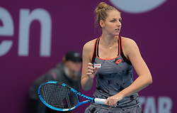February 10, 2019 - Doha, QATAR - Kristyna Pliskova of the Czech Republic in action during qualifications at the 2019 Qatar Total Open WTA Premier tennis tournament (Credit Image: © AFP7 via ZUMA Wire)