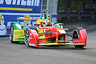 ABT Schaeffler Audi Sport driver, Lucas Di Grassi driving round corner during round 10, Formula E, Battersea Park, London, United Kingdom on 3 July 2016. Photo by Matthew Redman.