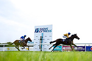 Mark of Respect ridden by Jack Mitchell trained by Jonathan Portman wins the bath.co.uk Maiden Auction Stakes - Mandatory by-line: Robbie Stephenson/JMP - 13/08/2020 - HORSE RACING - Bath Racecourse - Bath, England - Bath Races