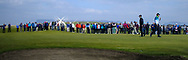 Part of the crowd on the 18th green during Round 4 of The West of Ireland Open Championship in Co. Sligo Golf Club, Rosses Point, Sligo on Sunday 7th April 2019.<br /> Picture:  Thos Caffrey / www.golffile.ie