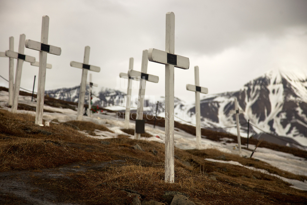 Áritco. Islas Svalbards.Antiguo cementerio de navegantes fallecidos por la peste española en Longyearbyen..© JOAN COSTA