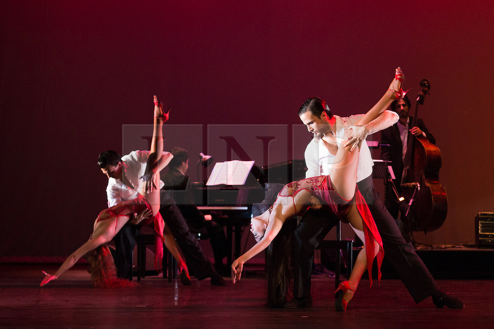 © Licensed to London News Pictures. 26/01/2015. London, England. Entire cast performing. Argentina's dance company Tango Fire returns to the Peacock Theatre, London, with their show Flames of Desire from 27 January to 14 February 2015. Photo credit: Bettina Strenske/LNP