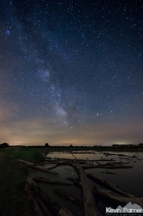 Ever since I found this area of dead trees in the water at Banner Marsh, I wanted to get some pictures of it under the milky way. After driving out here, clouds began covering the sky. I thought I wouldn't get any pictures of the stars, but then it cleared shortly before 2am.<br /> <br /> Date Taken: June 6, 2014