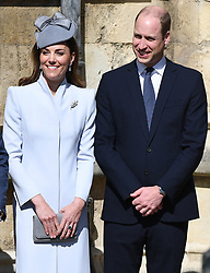 Members of the Royal Family attend the Easter Mattins Service at St. George's Chapel, Windsor Castle, Windsor, Berkshire, UK, on the 21st April 2019. 21 Apr 2019 Pictured: Catherine, Duchess of Cambridge, Kate Middleton, Prince William, Duke of Cambridge. Photo credit: James Whatling / MEGA TheMegaAgency.com +1 888 505 6342