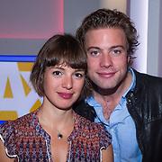 NLD/Hilversum/20130826 - najaarspresentatie 2013 omroep Max, Jelle de Jong en Lisa Smit