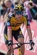 Pascal Eenkhoorn of Jumbo Visma crosses the finishing line during the AJ Bell Tour of Britain 2021, stage 7 between Hawick and Edinburgh, Scotland on 11 September 2021.