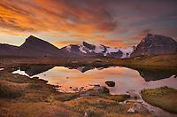 Sunrise over the Rainbow Range, seen from Mumm Basin, Mount Robson Provincial Park British Columbia
