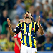 Fenerbahce's Mehmet Topal during their UEFA Champions League Play-Offs, 2nd leg soccer match Fenerbahce between Spartak Moscow at Sukru Saracaoglu stadium in Istanbul Turkey on Wednesday 29 August 2012. Photo by TURKPIX