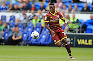 Yeni Ngbakoto of Queens Park Rangers in action.EFL Skybet championship match, Cardiff city v Queens Park Rangers at the Cardiff city stadium in Cardiff, South Wales on Sunday 14th August 2016.<br /> pic by Andrew Orchard, Andrew Orchard sports photography.