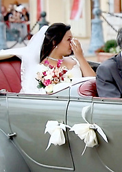 Marie Hoa Chevallier drives by car to the Cathedrale Notre-Dame-Immaculee in Monaco, on July 27, 2019, Press and public not welcome at the wedding of the son of Princess Stephanie of Monaco, Louis Ducruet and Marie Chevallier, the monegasque police had deposited all the streets that lead to the cathedral with crush barriers and police officers. 27 Jul 2019 Pictured: Marie Hoa Chevallier drives by car to the Cathedrale Notre-Dame-Immaculee in Monaco, on July 27, 2019, Press and public not welcome at the wedding of the son of Princess Stephanie of Monaco, Louis Ducruet and Marie Chevallier, the monegasque police had deposited all the streets that lead to the cathedral with crush barriers and police officers Photo : Albert Nieboer / Netherlands OUT / Point de Vue OUT. Photo credit: RPE / MEGA TheMegaAgency.com +1 888 505 6342