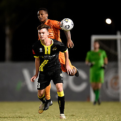 BRISBANE, AUSTRALIA - APRIL 20:  during the NPL Queensland Senior Men's Round 6 match between Eastern Suburbs FC and Moreton Bay Jets on April 20, 2021 in Brisbane, Australia. (Photo by Patrick Kearney)