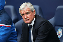Stoke City manager Mark Hughes - Mandatory by-line: Matt McNulty/JMP - 14/10/2017 - FOOTBALL - Etihad Stadium - Manchester, England - Manchester City v Stoke City - Premier League
