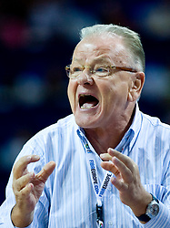 Head coach of Serbia Dusan Ivkovic during the EuroBasket 2009 Semi-final match between Slovenia and Serbia, on September 19, 2009, in Arena Spodek, Katowice, Poland. Serbia won after overtime 96:92.  (Photo by Vid Ponikvar / Sportida)