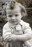 portrait of girl toddler 1950s