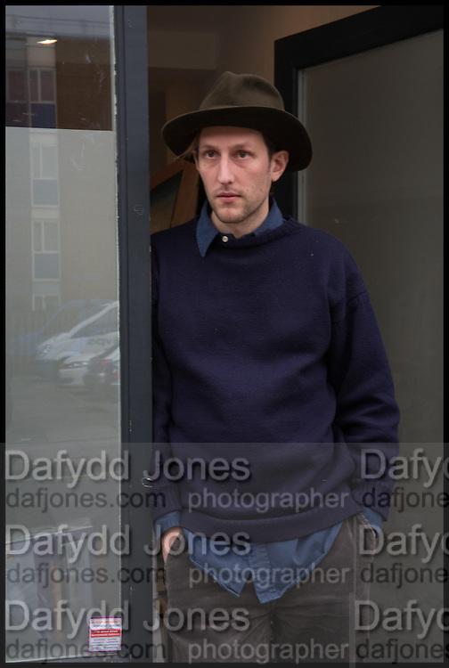 Henry Hudson in his studio in East London, 20 February, 2015