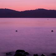 Idaho, Valley County, McCall, Payette Lake sunset.