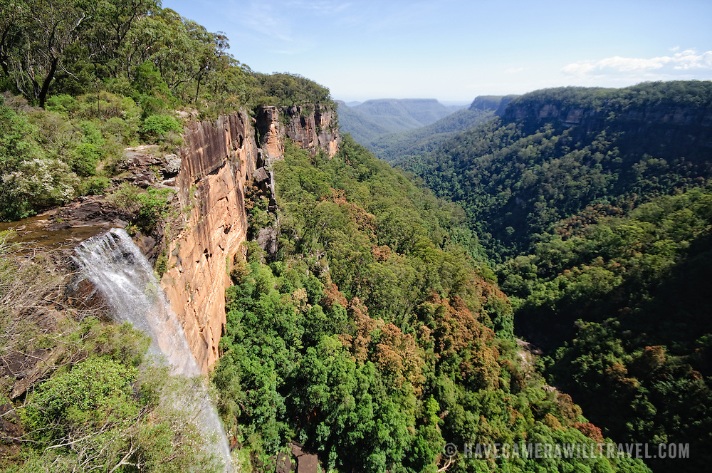 Waterfalls at Fitroy Falls in the Kangaroo Valley near the Central Coast of New South Wales