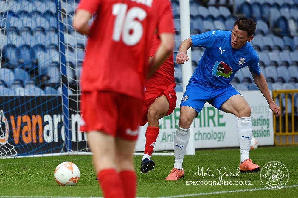 Connor Jennings. Stockport County 2-1 Kidderminster Harriers. Pre-Season Friendly. 28.9.20
