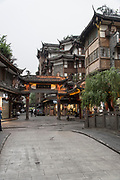 cityscape of Dujiangyan city, Sichuan Province, China