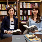 Warsaw, Poland, March 12, 2013. Zofia Karaszewska and Sylwia Stano, founders and managing directors of Bibliocreatio in Warsaw which has the aim to create unique book collections for companies and individual clients. Driven by their love of literature and knowledge of the publishing market,  Zofia and Sylwia advise what is worth reading, compose personal libraries and promote a new approach to books in business and everyday life.