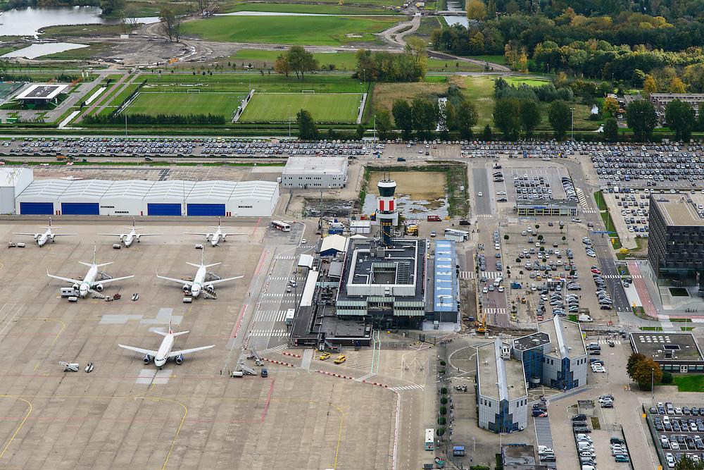 Nederland, Zuid-Holland, Rotterdam, 23-10-2013; Vliegveld Zestienhoven, Rotterdam The Hague Airport.<br /> luchtfoto (toeslag op standaard tarieven);<br /> aerial photo (additional fee required);<br /> copyright foto/photo Siebe Swart.
