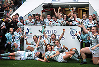 Rugby Union - 2019 (31st Women's) Varsity Match - Oxford University vs. Cambridge University<br /> <br /> Cambridge team celebrate with the trophy, at Twickenham.<br /> <br /> COLORSPORT/ANDREW COWIE