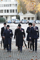 The Prince of Wales arrives at the Guards' Chapel in Wellington Barracks, London for a service and to lay a wreath at the Guards' Memorial for the Welsh Guards' Regimental Remembrance Sunday.