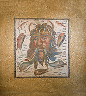 Medusa mosaic. 2nd  century Roman Mosaic from the Alcazar of Cordoba, Spain .<br /> <br /> If you prefer to buy from our ALAMY PHOTO LIBRARY Collection visit : https://www.alamy.com/portfolio/paul-williams-funkystock/roman-mosaic.html . Type -   Cordoba     - into the LOWER SEARCH WITHIN GALLERY box. Refine search by adding background colour, place, museum etc<br /> <br /> Visit our ROMAN MOSAIC PHOTO COLLECTIONS for more photos to download as wall art prints https://funkystock.photoshelter.com/gallery-collection/Roman-Mosaics-Art-Pictures-Images/C0000LcfNel7FpLI
