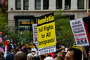 Immigration Demonstration in Union Square, New York, United States. International Workers' Day 2007