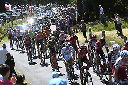 July 16, 2017 - Puy En Velay, France - LE PUY-EN-VELAY, FRANCE - JULY 16 : PAUWELS Serge (BEL) Rider of Team Dimension Data, BENOOT Tiesj (BEL) Rider of Team Lotto - Soudal, DE GENDT Thomas (BEL) Rider of Team Lotto - Soudal during stage 15 of the 104th edition of the 2017 Tour de France cycling race, a stage of 189.5 kms between Laissac-Severac l'Eglise and Le Puy-En-Velay on July 16, 2017 in Le Puy-En-Velay, France, 16/07/2017 (Credit Image: © Panoramic via ZUMA Press)