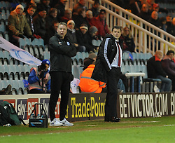 Peterborough United Manager, Darren Ferguson and Bristol City manager, Steve Cotterill - Photo mandatory by-line: Dougie Allward/JMP - Mobile: 07966 386802 11/03/2014 - SPORT - FOOTBALL - Peterborough - London Road Stadium - Peterborough United v Bristol City - Sky Bet League One
