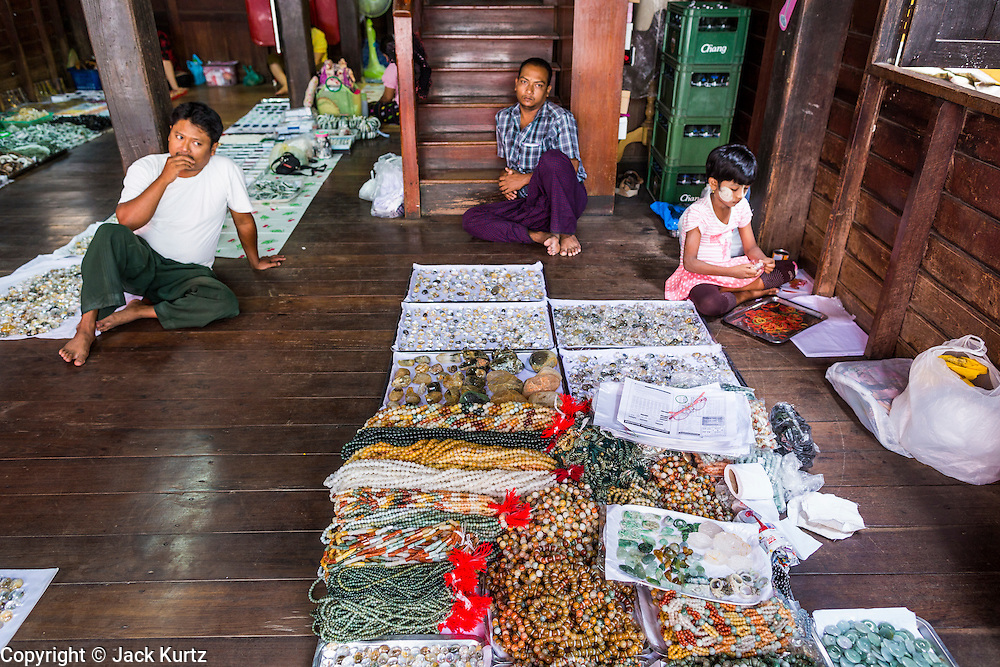 23 MAY 2013 - MAE SOT, TAK, THAILAND:  A shop that rents floor space to gem dealers in Mae Sot, Thailand. There is a thriving business in buying and selling gems and precious stones in Mae Sot. Many of the gems are smuggled into Thailand from Myanmar. Fifty years of political turmoil in Burma (Myanmar) has led millions of Burmese to leave their country. Many have settled in neighboring Thailand. Mae Sot, on the Mae Nam Moei (Moei River) is the center of the Burmese emigre community in central western Thailand. There are hundreds of thousands of Burmese refugees and migrants in the area. Many live a shadowy existence without papers and without recourse if they cross Thai authorities. The Burmese have their own schools and hospitals (with funding provided by NGOs). Burmese restaurants and tea houses are common in the area.    PHOTO BY JACK KURTZ