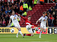 Marten de Roon of Middlesbrough scoring his teams first goal of the game during the English Premier League match at Riverside Stadium, Middlesbrough. Picture date: April 26th, 2017. Pic credit should read: Jamie Tyerman/Sportimage