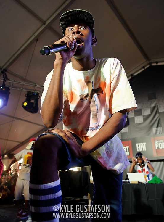 AUSTIN, TX - March 18, 2011 - Rap Group Odd Future Wolf Gang Kill Them All perfrorm at the Fader Fort by Fiat during the 2011 South By Southwest Festival in Austin, TX. (Photo by Kyle Gustafson)