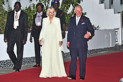The Prince of Wales and Duchess of Cornwall arrive for a state dinner and reception at the Coco Ocean Hotel, on day two of their trip to west Africa.