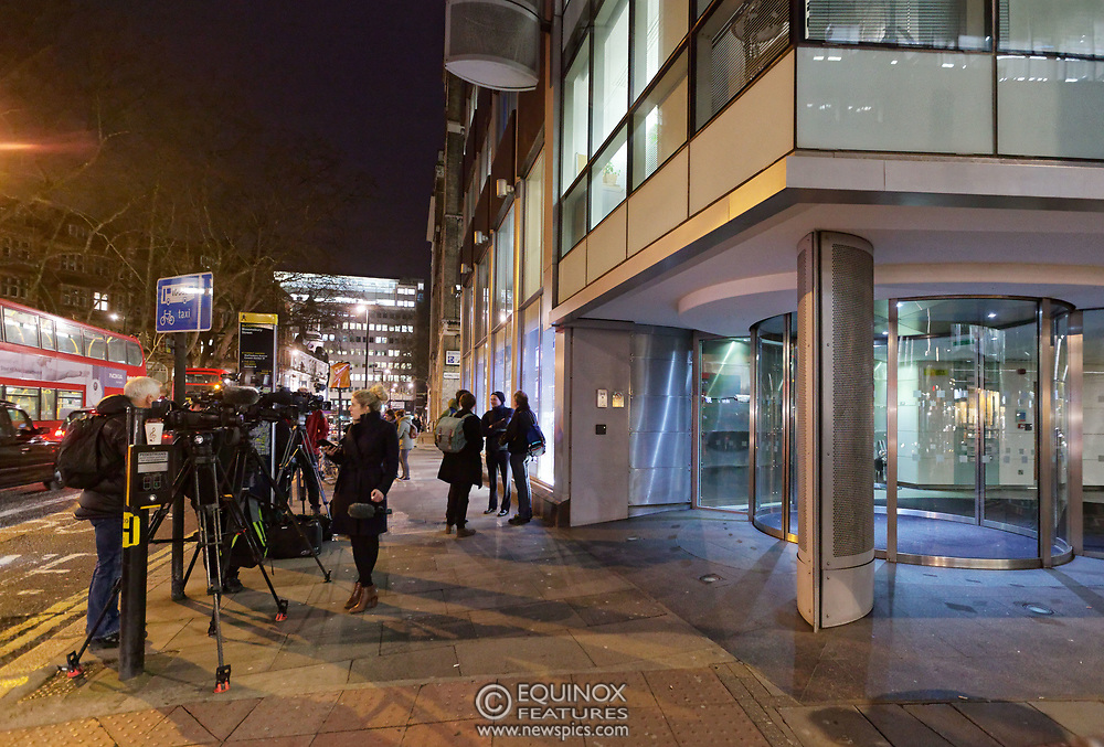 London, United Kingdom - 23 March 2018<br /> The Information Commissioner's Office executes a search warrant on Cambridge Analytica, 55 New Oxford Street, London, England, UK, Europe.<br /> www.newspics.com/#!/contact<br /> (photo by: EQUINOXFEATURES.COM)<br /> Picture Data:<br /> Photographer: Equinox Features<br /> Copyright: ©2018 Equinox Licensing Ltd. +448700 780000<br /> Contact: Equinox Features<br /> Date Taken: 20180323<br /> Time Taken: 19194049