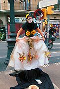 SPAIN, BARCELONA Las Ramblas, street entertainers